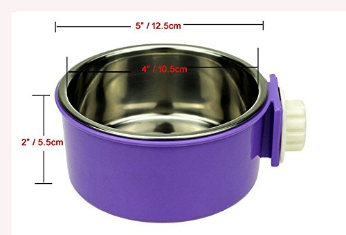 Removable Stainless Steel Hanging Bowl Dog Bowl Cat Water
