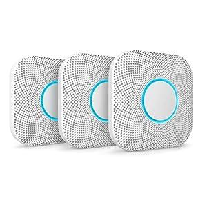 Google Nest Protect Smoke + Carbon Monoxide Alarm (Battery), 3 Pack