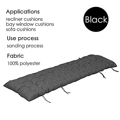 Lounge Chair Cushions, PEP Thickened Patio Indoor/Outdoor 61-Inch Overstuffed Recliner Portable Durable Sun Lounger Mattress (61inch 19inch 3 inch, Black) : Garden & Outdoor