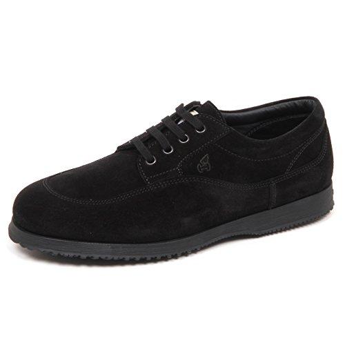 Shoe Scarpe Traditional Hogan Nero Scarpa Nero E4350 Suede Man Uomo wqXX0IS