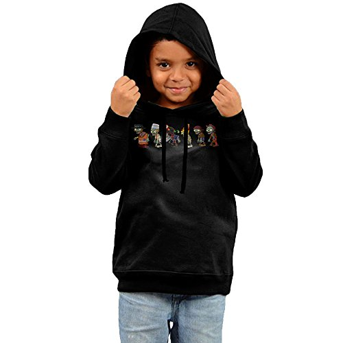 Toddler Vintage Plants Vs. Zombies 100% Cotton Long Sleeve Hoodie Black US Size 3 Toddler ()