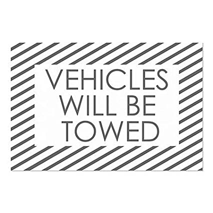 Stripes White Window Cling CGSignLab 30x20 5-Pack Vehicles Will Be Towed