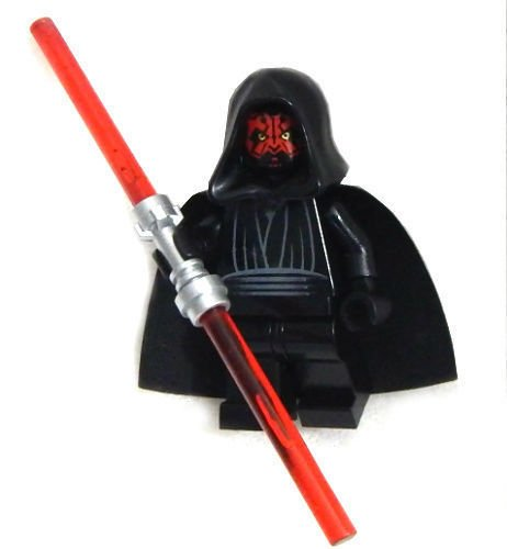 Lego Star Wars Minifigure   Darth Maul With Dual Lightsaber
