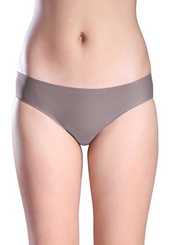 ed8ed868438 Wealurre Seamless Underwear Invisible Bikini No Show Nylon Spandex Women  Panties