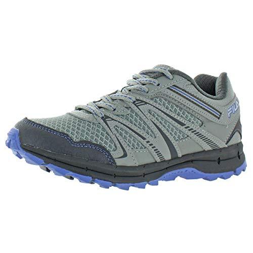 Fila Northampton Women's Trail Running Hiking Shoes (8.5) Grey/Light Blue