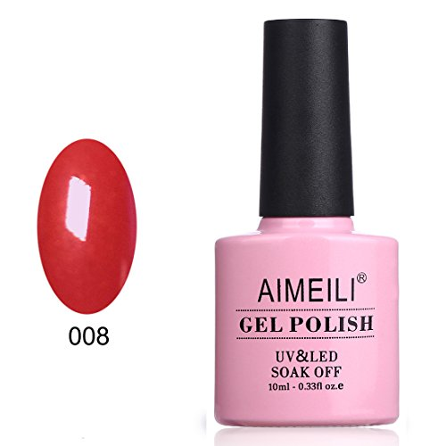 AIMEILI Soak Off UV LED Gel Nail Polish - Hollywood (008) 10ml -