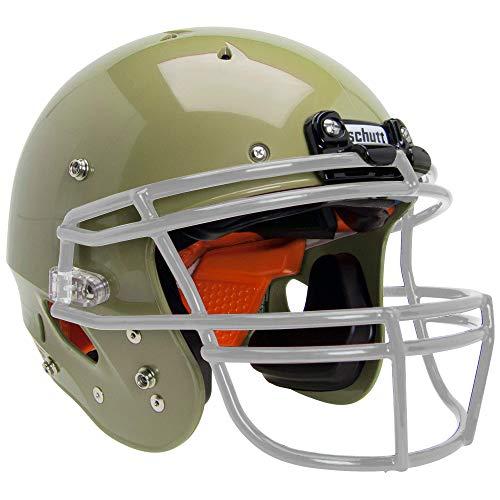 Vegas Gold Football Helmet - Schutt Sports Recruit Hybrid Youth Football Helmet (Facemask NOT Included), Metallic Vegas Gold, X-Small