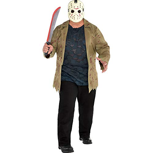 SUIT YOURSELF Friday The 13th Jason Voorhees Costume for Adults, Plus Size, Includes a Jacket, a Shirt, and a Mask ()