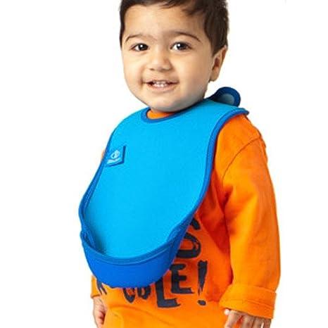 color azul Babero con bolsillo Bibetta UltraBib
