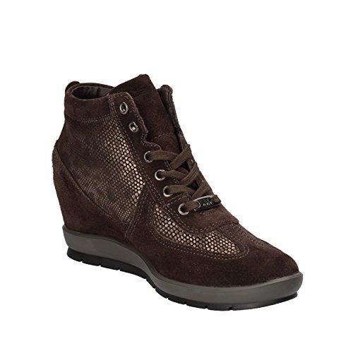 KEYS Sneakers Donna Marrone Camoscio AE596