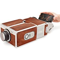 DIY Cardboard Version 2.0 Portable Smartphone Mobile Phone Projector For Home Theater - (Brown)