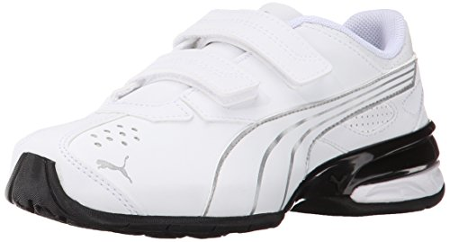 PUMA Tazon 5 NM V Kids Sneaker (Infant/Toddler/Little Kid) , White/Puma Silver, 8 M US Toddler