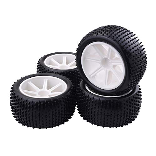 Fityle 4pcs 1/10 RC Buggy Tires Tyre and Wheels Rims for1/10 HSP Hongnor ZD Racing LRP VRX Redcat FTX Crawler - Rc Buggy Tires Model