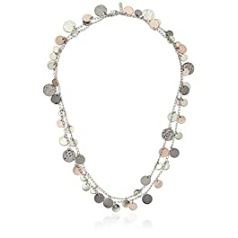 "Nine West ""Classics"" Tri Tone Strand Necklace, 42″"