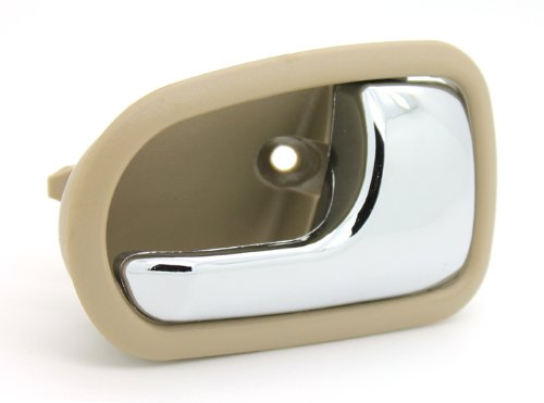 LatchWell PRO-4000869 Passenger Side Interior Door Handle in Tan & Chrome for Mazda Protégé & 626