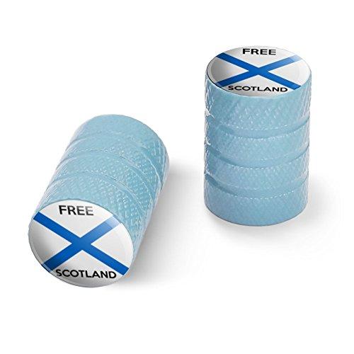 オートバイ自転車バイクタイヤリムホイールアルミバルブステムキャップ - ライトブルー無料スコットランドスコットランド独立党