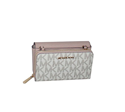 MICHAEL Michael Kors Tina Women's Wallet Clutch Xbody Shoulder Leather Double Bag MK PRINTED by MICHAEL Michael Kors