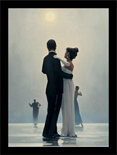 - Buyartforless Framed Dance Me to The End of Love by Jack Vettriano 26x21.5 Romantic Waltzers Art Print Romantic Dancing Under Moonlight Wide Frame