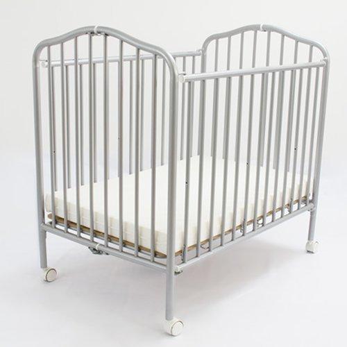 Compact Folding Metal Crib Finish: Pewter