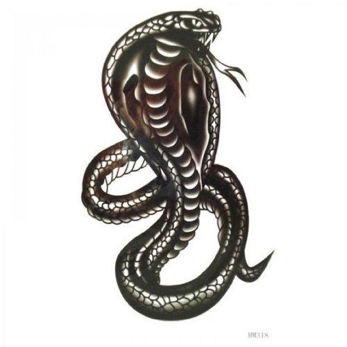 SPESTYLE wasserdicht ungiftig temporäre Tätowierung stickersWaterproof und Schweiß schwarze Kobra Muster Temp -Tattoos für Männer