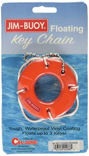 Jim-Buoy 88 Floating Life Ring Key Chain, ()
