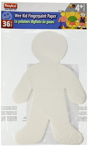Paper Doll Shapes - Roylco Finger Paint Wee Kid Shape,  7 1/2