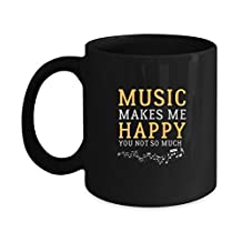 Happy Mug For Music Lover. Best Gift Ideas For Adults/Kids At Christmas/Birthday