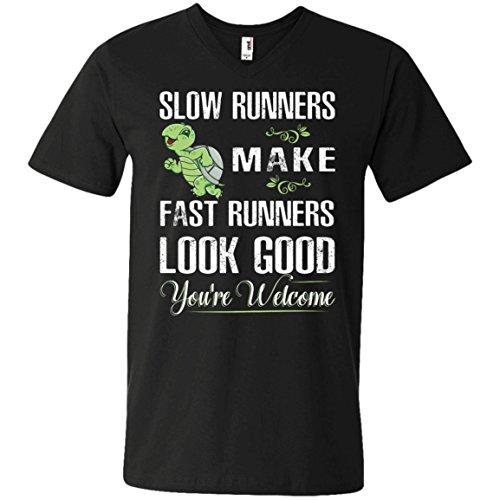 Slow Runner Tshirt Black Perfect Gift for Runners