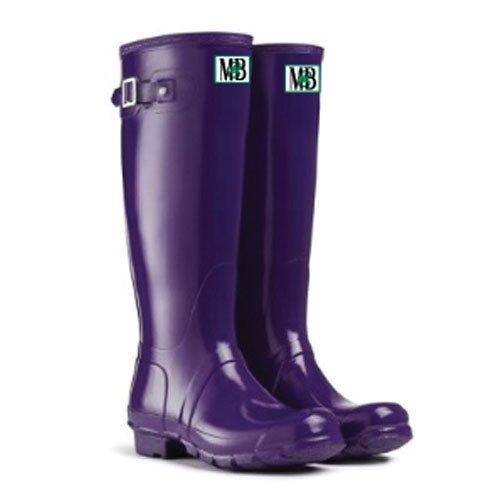 Moneysworth Och Bästa Womens Höga Gummi Welly Boot Purple