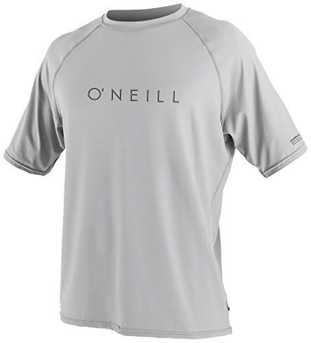 O'Neill Wetsuits UV Sun Protection Mens 24-7 Tech Short Sleeve Crew Sun Shirt, Lunar, Medium