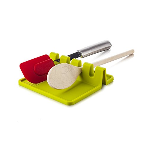 . Spoon Rest Ladle Spoon holder.(Green) ()