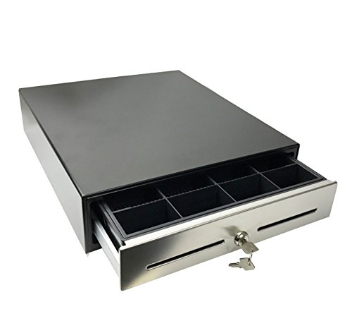 "ANGEL POS 14"" POS Cash Drawer with Stainless Steel Front Cash Register Till Draw Box"