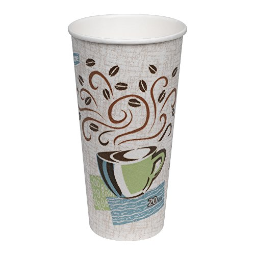 Dixie PerfecTouch 20 oz. Insulated Paper Hot Coffee Cup by GP PRO (Georgia-Pacific), Coffee Haze,  5320CD, 500 Count (25 Cups Per Sleeve, 20 Sleeves Per - 20 Beverage Ounce