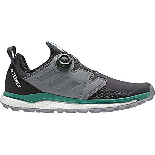 - adidas outdoor Terrex Agravic Boa Mens Trail Running Shoes, Carbon/Grey Three/Active Green, 10.5