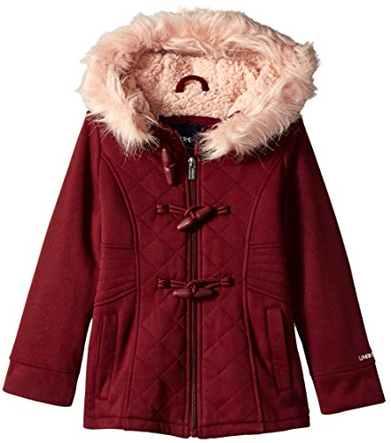 - Limited Too Girls' Toddler Quilted Toggle Fleece Jacket, Burgundy 4T