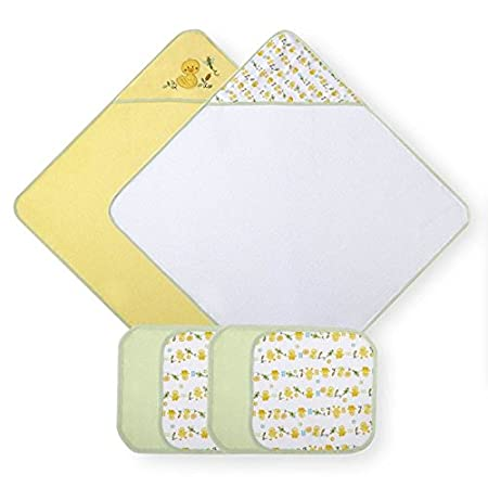 Amazon.com : Koala Baby Neutral Yellow Duck 2 Pack Towel and 4 Pack Washcloth Set : Baby
