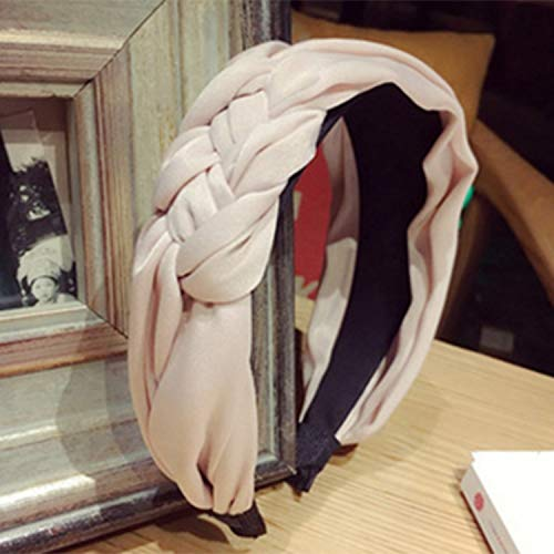 hairband Cotton fabric Knotted headband Vintage twist turban boho hair accessories Wide Hair Band handmade Bow Headwear -
