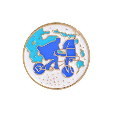 Bike Brooch Pin - bjduck99 Women Kids Nordic Bike Girl Bottle Brooch Pin Jeans Collar Decor Jewelry Gift - 4#