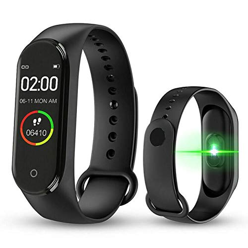 digibuff M4 Band Smart Fitness Band Activity Tracker with OLED Display Compatible with Android and iOS Devices. (Black)