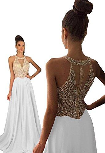 long white beaded dress - 6