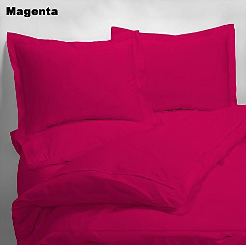 Luxury 600 Thread Counts 7pc Bed In A Bag (with 300GSM Comforter) Twin Size Magenta/ Hot Pink Solid 100% Egyptian Cotton- by PARADISEHOUSE well-wreapped