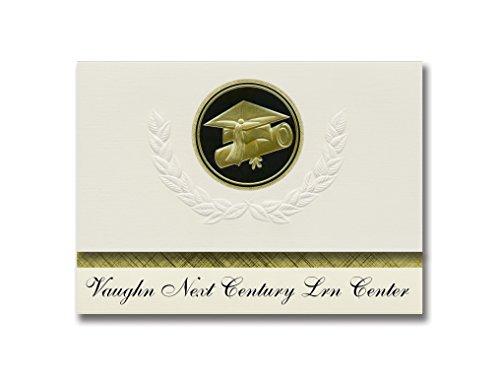 nts Vaughn Next Century Lrn Center (San Fernando, CA) Graduation Announcements, Presidential Elite Pack 25 Cap & Diploma Seal. Black & Gold. (Next Century Cap)