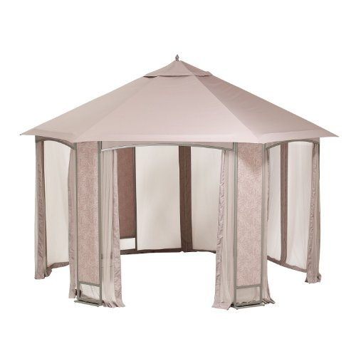 Cheap Sears Oakbrook Hexagon Gazebo Replacement Canopy