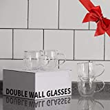 Sweese 415.101 Glass coffee mugs - 4PCS Double Wall