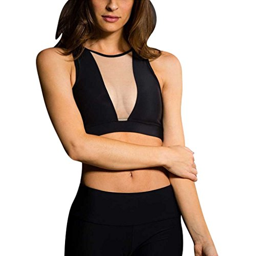 Onzie Hot Yoga Briana Bra 3641 Black Nude Mesh Clothing, Shoes & Accessories Athletic Women