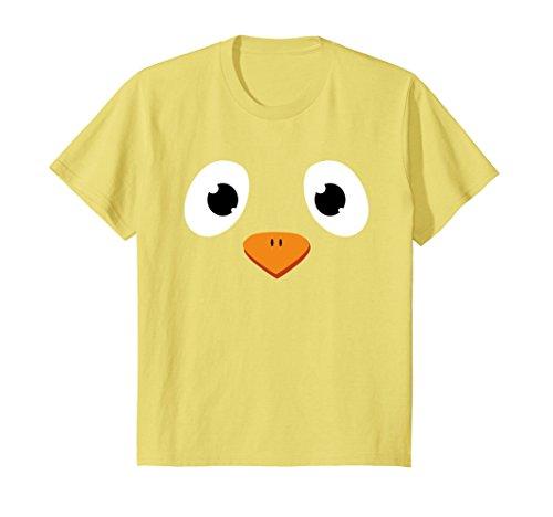 Kids Chick Face T-Shirt Chicken Cute Funny Halloween Costume Gift 4 (Farmer Halloween)