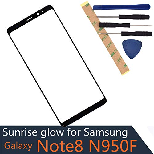 N950F Outer Glass Screen Compatible with Samsung Galaxy Note8 Front Glass Screen N950U Front Panel -