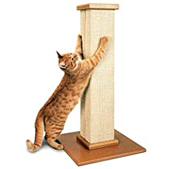 Cats need a scratching post that will allow them to get a full stretch. The 32-inch post height allows the cat to stretch vertically while using the post (important for territorial marking purposes and for toning muscles). The finest material...