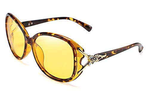 Karsaer Night Vision Glasses for Women Driving Polarized HD Night Driving Anti-glare Glasses