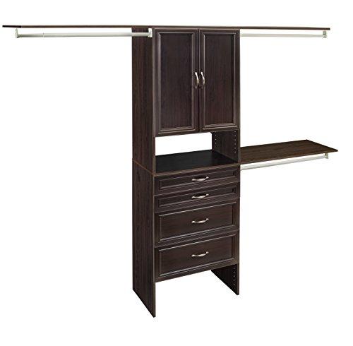 ClosetMaid 1935740 SuiteSymphony 25-Inch Closet Organizer with Shelves, 2-Doors and 4-Drawers, Espresso (Espresso Closet Door)